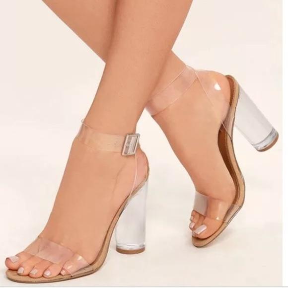 22d5005c25d Steve Madden Teena Clear heel sandals Sz 7.5. M 5b4d1a2e12cd4ac2f9b82edf